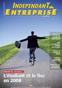 magazine sdi independant et entreprise juin 2008 bientot les vacances l etudiant et le fisc en 2008
