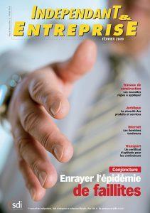 magazine sdi independant et entreprise fevrier 2009 conjoncture enrayer l'epidemie des faillites