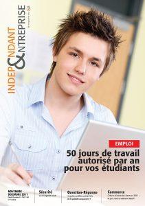 magazine sdi independant et entreprise novembre decembre 2011 emploi 50 jours de travail autorise par an pour vos etudiants
