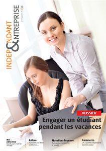 magazine sdi independant et entreprise mai juin 2012 dossier engager un etudiant pendant les vacances