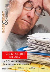 magazine sdi independant et entreprise janvier fevrier 2014 12306 faillites en 2013 le sdi reclame des mesures anti crise