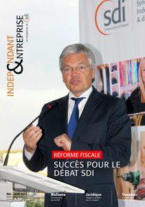 magazine sdi independant et entreprise mai juin 2015 didier reynders reforme fiscale succes pour le debat sdi