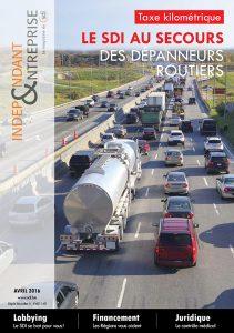 magazine sdi independant et entreprise avril 2016 taxe kilométrique le sdi au secours des depanneurs routiers