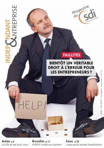 magazine sdi independant et entreprise avril mai 2018 Faillites Bientot un veritable droit a l erreur pour les entrepreneurs