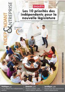 magazine sdi independant et entreprise octobre novembre 2019 les 10 priorites des independants pour la nouvelle legislature