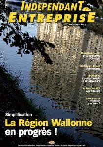 magazine sdi independant et entreprise octobre 2007 simplification la region wallonne en progres