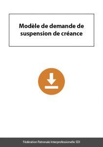 document a telecharger federation sdi modele demande de suspension de creances