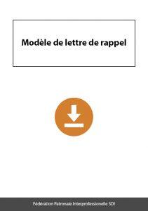 document a telecharger federation sdi modele lettre rappel