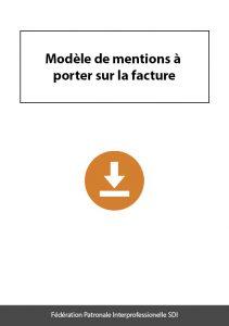 document a telecharger federation sdi modele mentions a porter sur facture