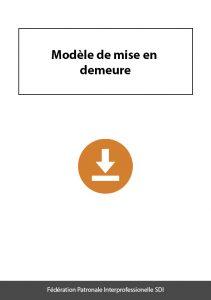 document a telecharger federation sdi modele mise en demeure