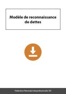 document a telecharger federation sdi modele reconnaissance de dettes