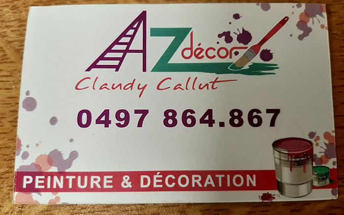 AZ Décor – Peintre en bâtiment – 5060 Auvelais