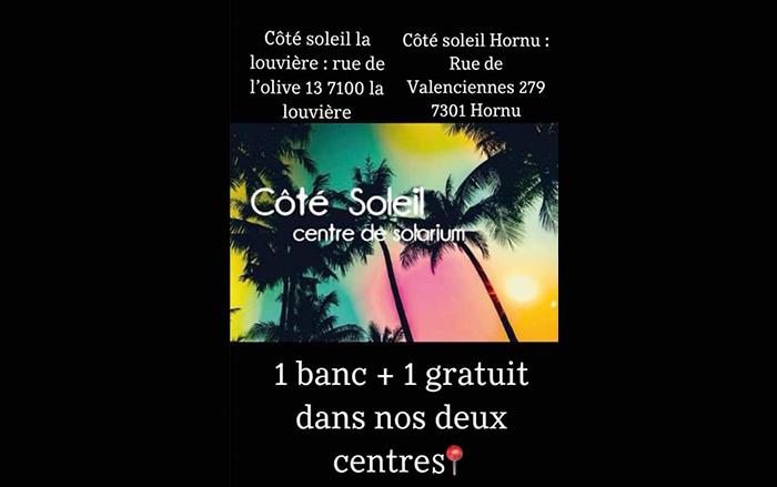 Côté soleil – Centre de bronzage – 7301 Hornu