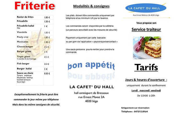 La cafet du hall – Horeca – 4020 Bressoux