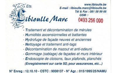Ets Libioulle M – Humidité et mérule – 5300 Andenne