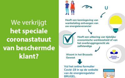 Brussels : tijdelijke verlenging van de status van beschermde klant