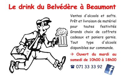 Drink du Belvédère – Commerce boissons – 6500 Beaumont