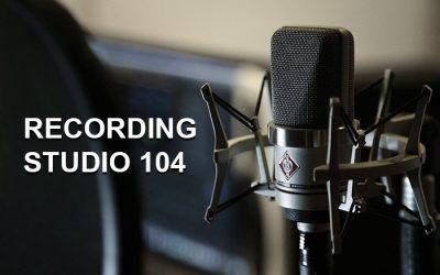 Recording studio 104 – Studio d'enregistrement – 1380 Lasne