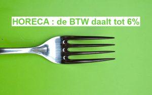 horeca belgie btw daalt syndicaat zelfstandigen
