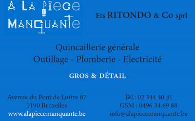 Ritondo SPRL – Quincaillerie – 1190 Forest