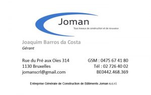 joman scrl construction generale batiment