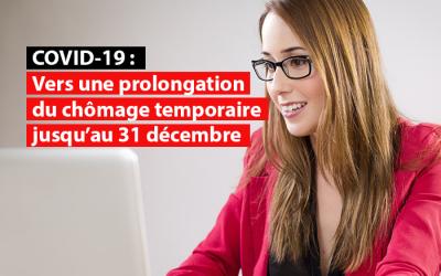 Vers une prolongation du chômage temporaire jusqu'au 31 décembre