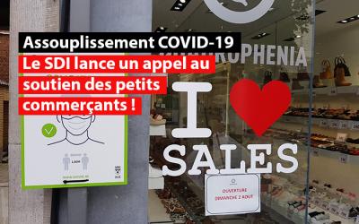Assouplissement des limitations dans les commerces : satisfaction du SDI qui appelle les consommateurs à soutenir les petits commerces !