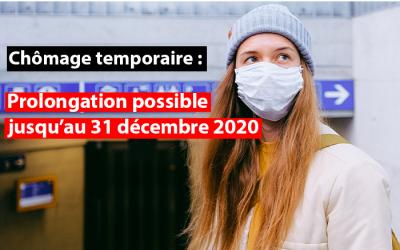 Chômage temporaire Covid-19 : les mesures transitoires du 1er septembre au 31 décembre 2020