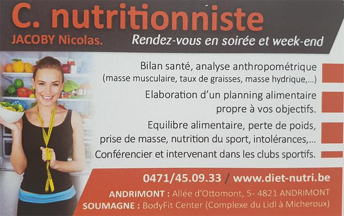 Nicolas Jacoby – Nutrition – Liege