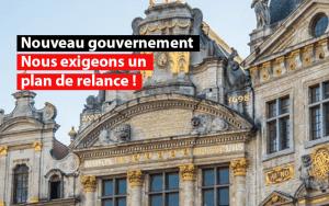 nouveau gouvernement plan de relance urgent belgique sdi federation