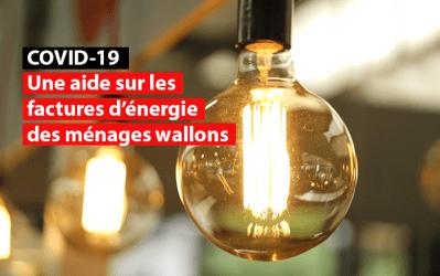 Covid 19 : 40.000 ménages wallons peuvent bénéficier d'une aide sur leur facture d'énergie