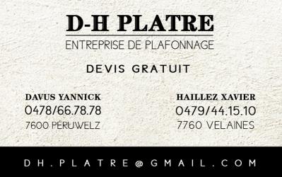 DH Plafonnage – Batiment – 7760 Velaines