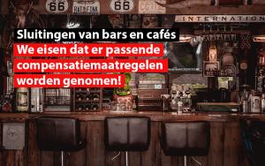 verplichte sluiting bars cafes sdz federatie zelfstandigen