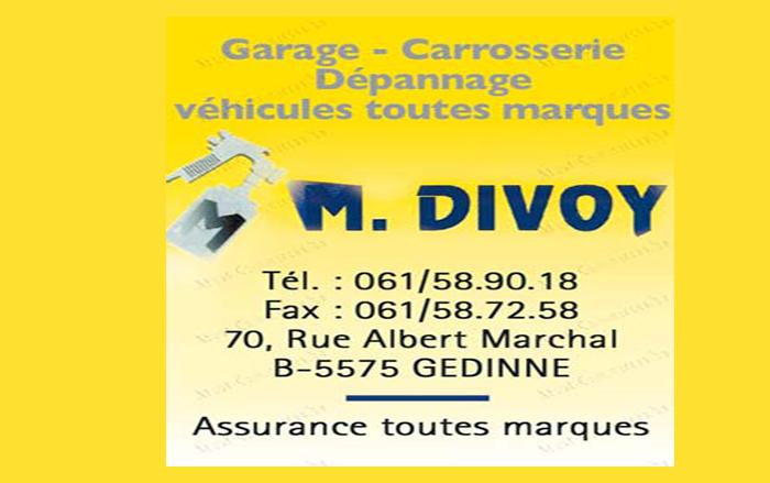 CARROSSERIE DIVOY – GARAGE-CARROSSERIE – 5575 GEDINNE