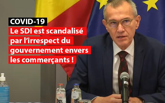 franck vandenbroeck sdi scandalise gouvernement commercants covid