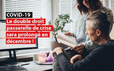 Crise du Covid-19 : Le double droit passerelle de crise sera prolongé en décembre !