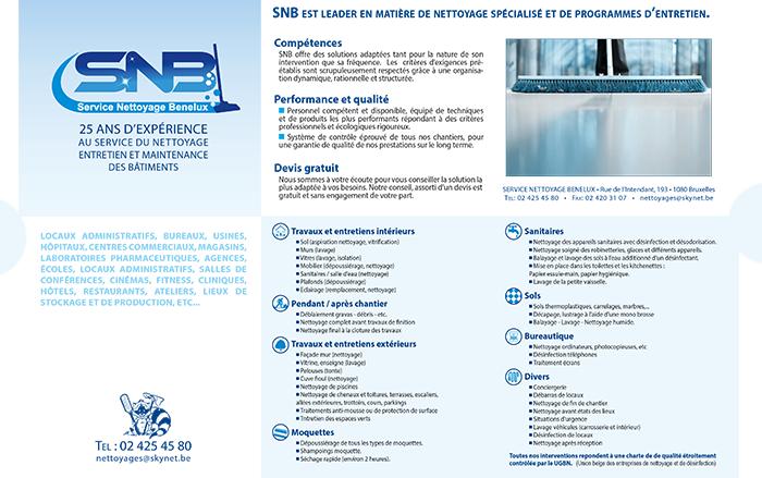 SNB – Service de Nettoyage Benelux – 1080 Bruxelles
