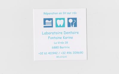 Karine Fontaine – Santé/Laboratoire dentaire – 6880 Bertrix
