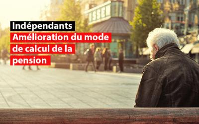 Statut social des indépendants : Amélioration du mode de calcul de la pension