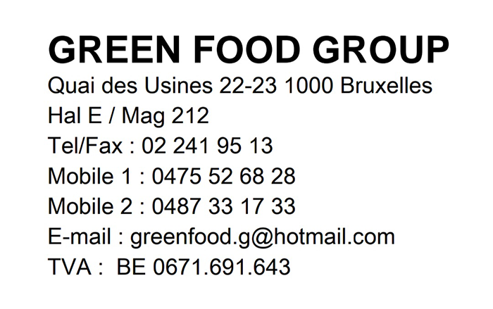 green food group bruxelles fruits legumes sdi federation