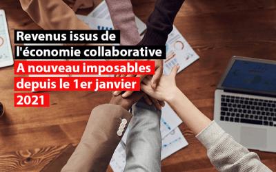 Revenus issus de l'économie collaborative : à nouveau imposables depuis le 1er janvier 2021