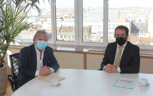 Le sdi rencontre le ministre des independants david clarinval