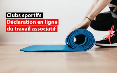 Clubs sportifs : déclaration en ligne possible du travail associatif