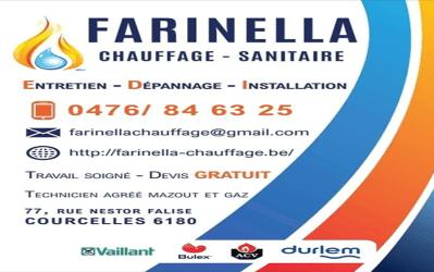 Farinella Chauffage – Chauffage et sanitaire – 6180 Courcelles