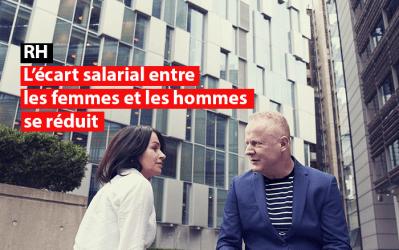 RH : l'écart salarial entre les femmes et les hommes se réduit