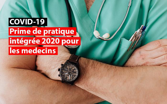 prime de pratique medecins intégrée 2020