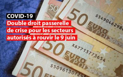 Covid-19 : double droit passerelle de crise pour les secteurs autorisés à rouvrir le 9 juin