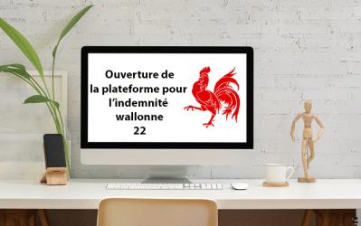 COVID-19 : La plate-forme pour l'indemnité wallonne 22 est ouverte !